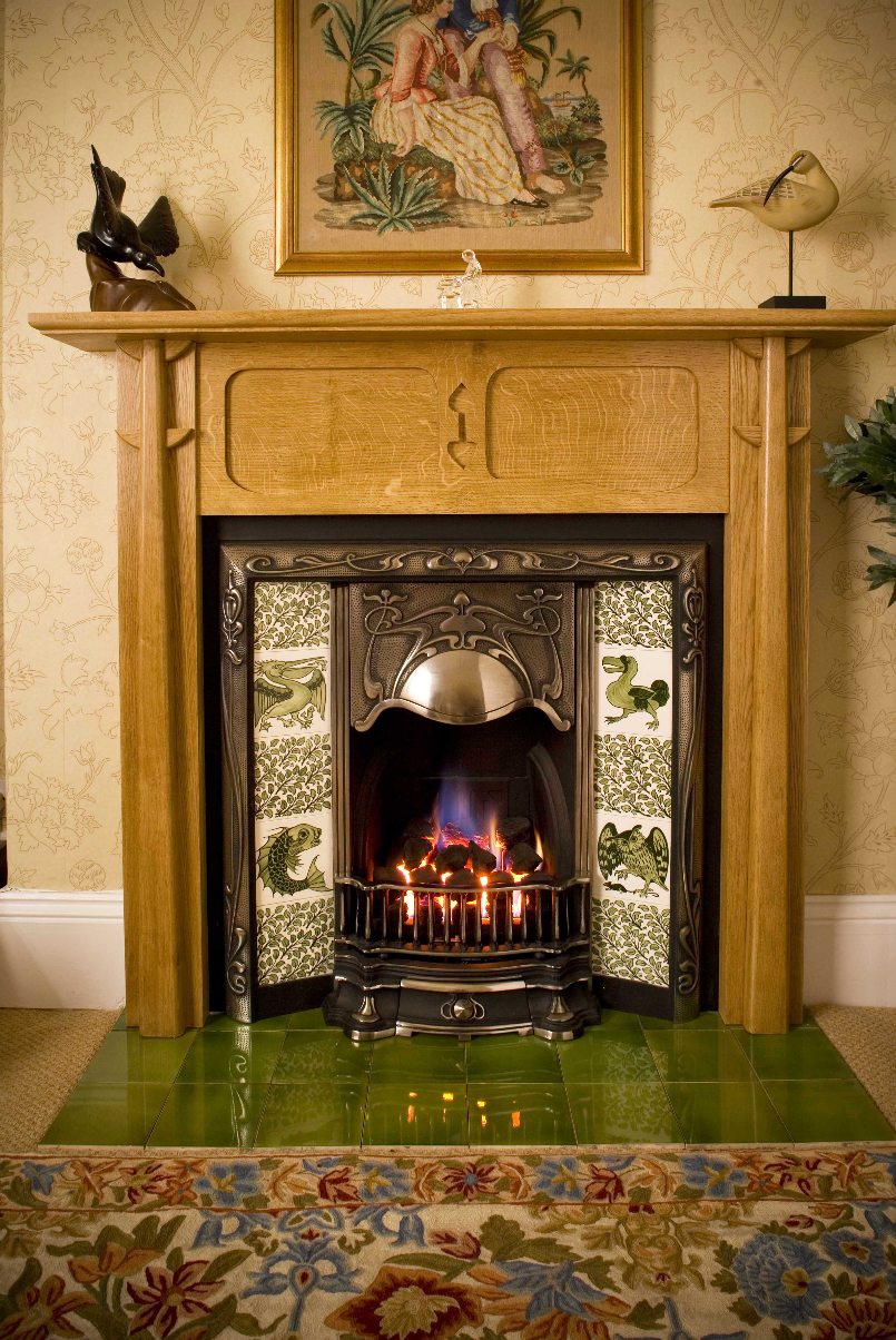 Ceramic fireplace tiles