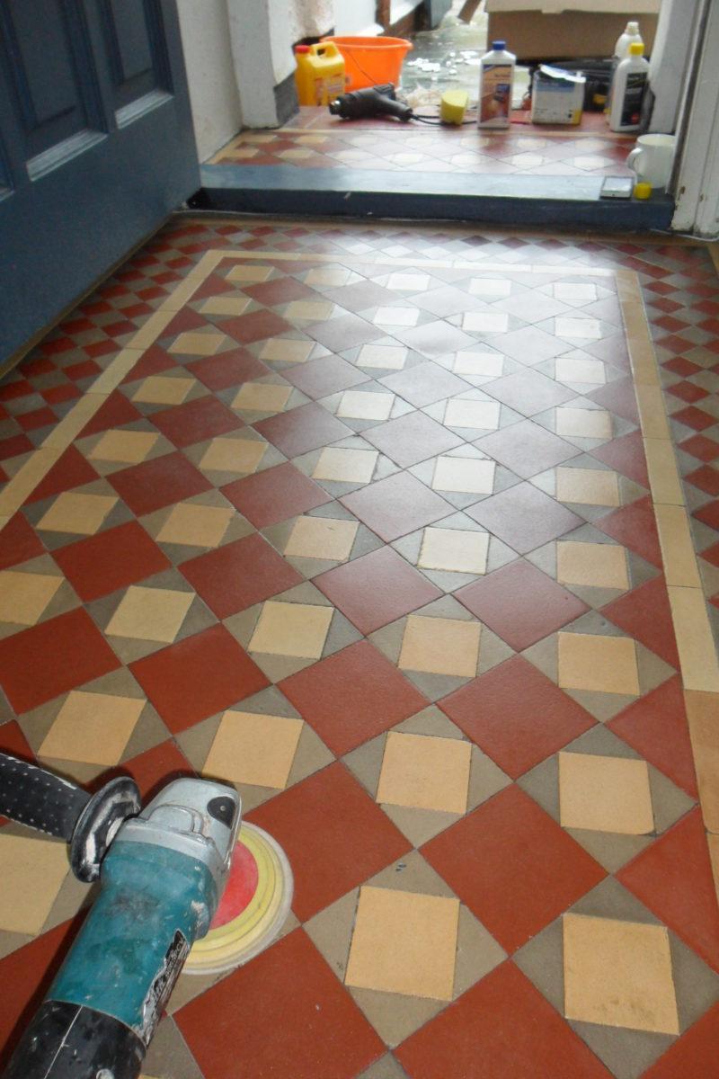Restoring tile floors