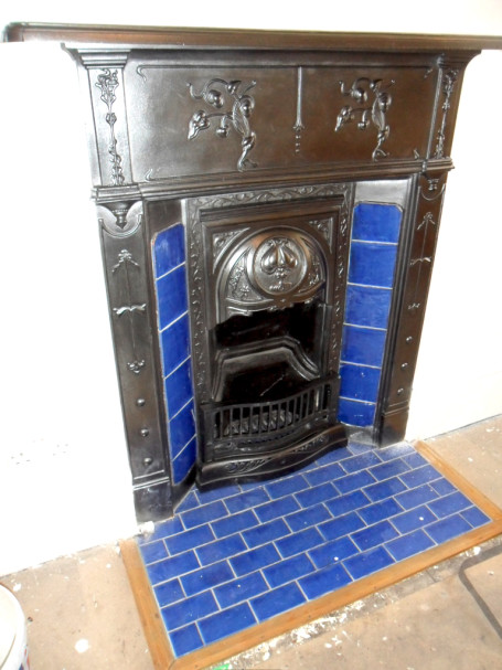 Find a professional tiler in london north west east Victorian fireplace restoration